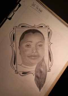 Pencil Self Portrait by Daral